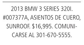 2013 BMW 3 Series 3201
