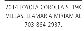 2014 Toyota Corolla S.