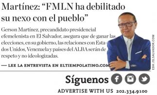 FMLN ha debilitado su nexo con el pueblo