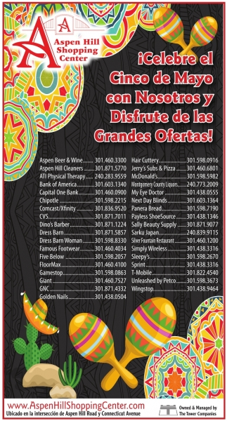 ¡Celebre el Cinco de Mayo con Nosotros y Disfrute de las Grandes Ofertas!