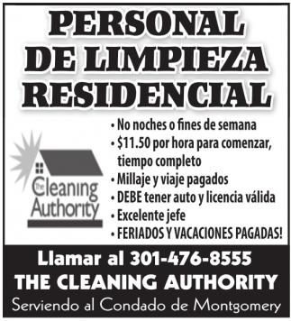 Personal de Limpieza