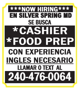 Cashier - Food Prep