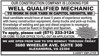 Well Qualified Mechanic