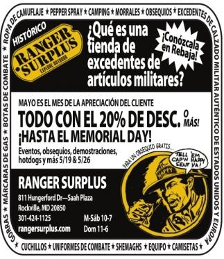 ¿Que es una Tienda de Excedentes de Articulos Militares?
