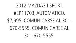 2012 Mazda 3 I Sport