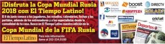 Dijo¡Disfruta la copa Mundial Rusia 2018 con El Tiempo Latino!