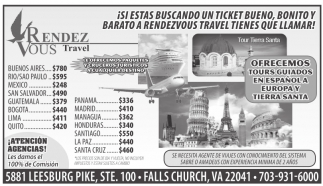 Si Estás Buscando un Ticket Bueno, Bonito y Barato a RendezVous Travel tienes que Llamar!