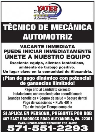 Tecnico de Mecanica Automotriz