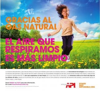 Gracias al Gas Natural el Aire que Respiramos es Mas Limpio