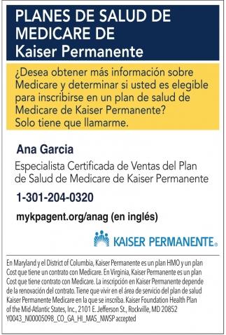 Planes de Salud de Medicare de Kaiser Permanente