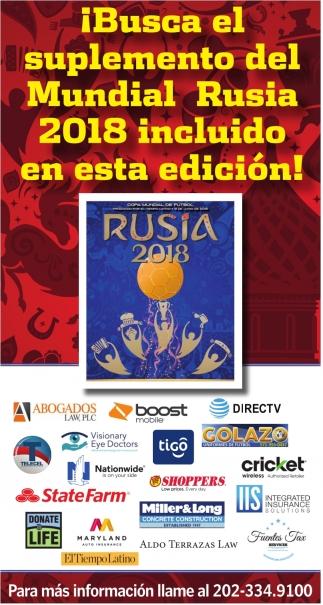 ¡Busca el Suplemento del Mundial Rusia 2018 Incluido en esta Edicion!