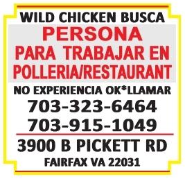 Persona para Trabajar en Polleria/Restaurant