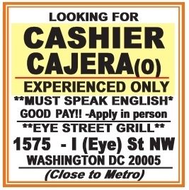 Cashier/Cajera