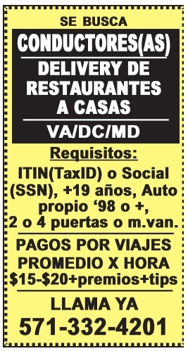 Se Busca Conductores(as)