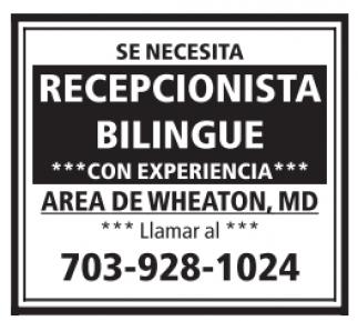 Recepcionista Bilingüe