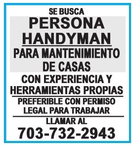 Se busca Persona Handyman