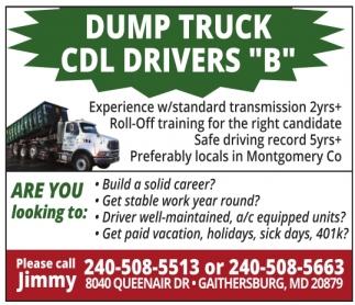 Dump Truck CDL Drivers