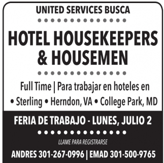 Hotel Housekeepers & Housemen