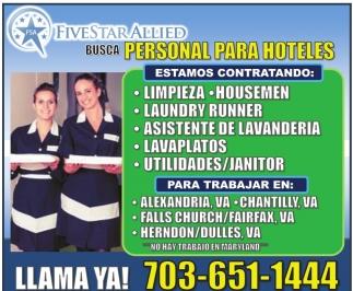 Busca Personal para Hoteles