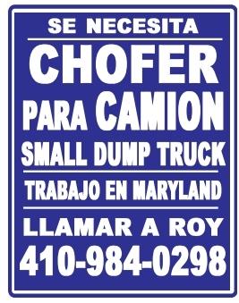 Chofer para Camion