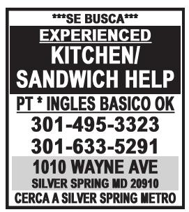 Kitchen/ Sandwich Help