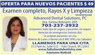 Examen Completo, Rayos X y Limpieza
