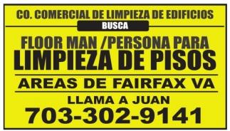 Floor Man/PErsona para Limpieza de Pisos