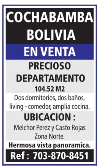 Cochabamba Bolivia / En venta
