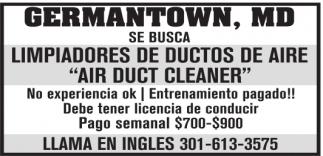 Limpiadores de Ductos de Aire