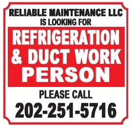 Refrigeratio & Duct Work Person