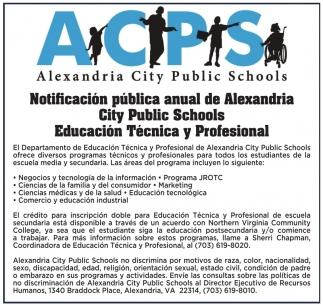Notificacion Publica Anual de Alexandria