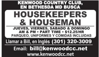 Housekeepers & Houseman