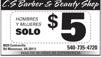 Hombres y Mujeres Solo $5