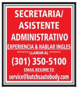 Secretaria/Asistente Administrativo
