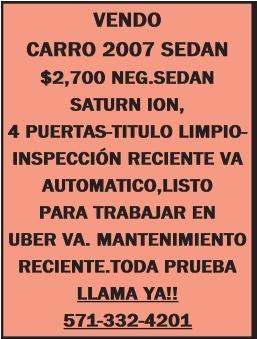 Vendo Carro 2007 Sedan
