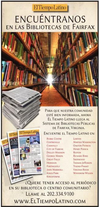 Encuentraos en las Bibliotecas de Fairfax