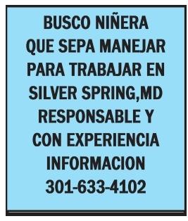 Busco Niñera