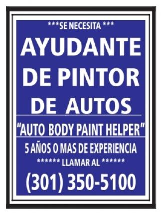 Ayudante de Pintor de Autos