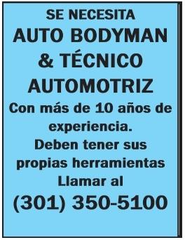 Auto Bodyman & Técnico Automotriz