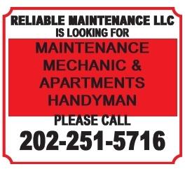 Maintenance Mechanic & Apartments Handyman