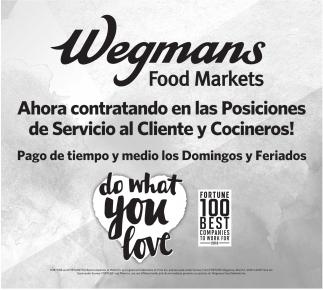 Cocineros - Servicio al Cliente