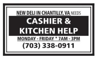Cashier & Kitchen Help
