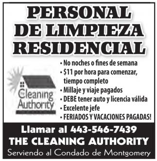 Persona de Limpieza Comercial