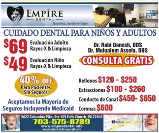 Cuidado Dental para Niños y Adultos