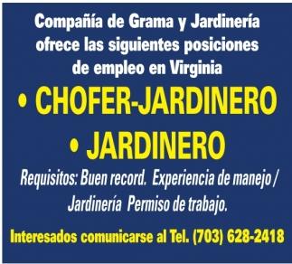 Chofer - Jardinero