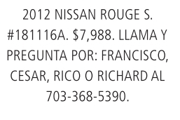 2012 Nisan Rouge S