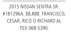 2015 Nissan Sentra Se