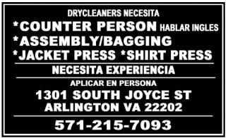 Drycleaners Necesita