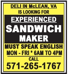 Experienced Kitchen/Deli Helper