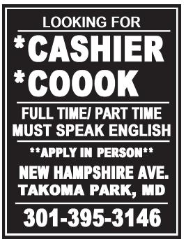 Cashier Cook